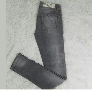 BLANK NYC WOMEN'S SKINNY CORDUROY PANTS JEANS GRAY